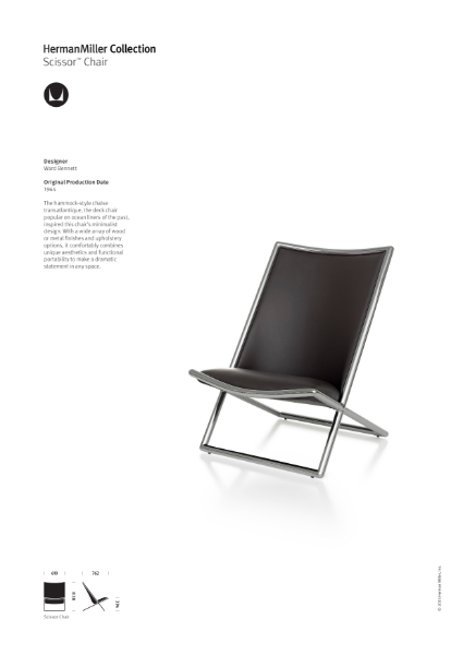 Scissor Chair - Product Sheet