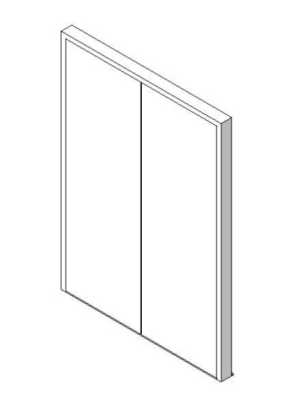 External Double Door, Blank Leaf