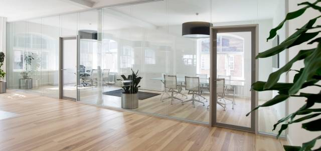 Deko FG-2 Double Glazed Clear Jointed Partition Types FG-2 1090 and FG-2 1290