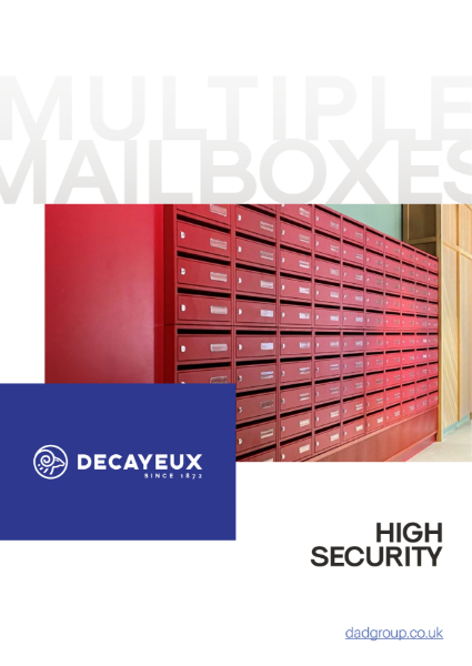 MULTIPLE MAILBOXES - HIGH SECURITY