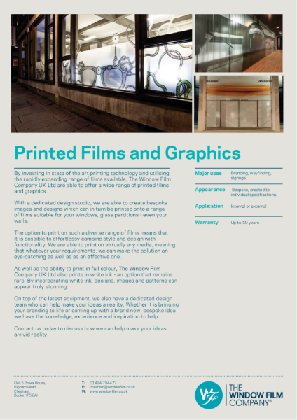 Film Types - Printed Films and Graphics
