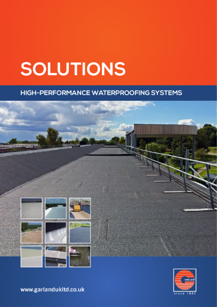 Garland - High Performance Waterproofing Solutions for Modified Bitumen, Cold Applied Liquid Coatings, Maintenance Products and Metal Cladding & Standing Seam