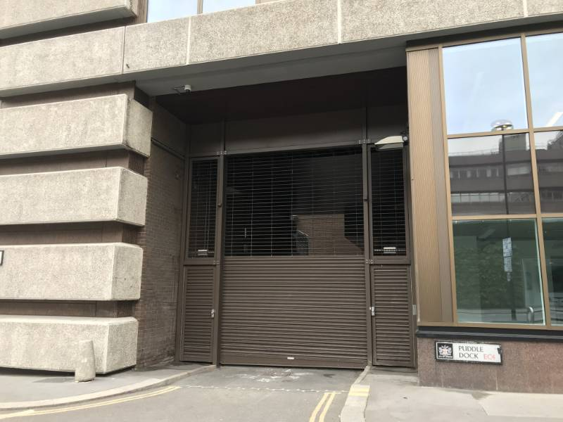 Special grille / shutter provided by Bolton Gate for refurbished building in London.