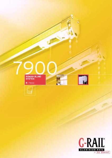 G-Rail Roman blind system - 7900
