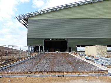Heat Mat ramp heating system installed at the Waste Recycling Group's Greatmoor Energy from Waste Facility, Buckinghamshire