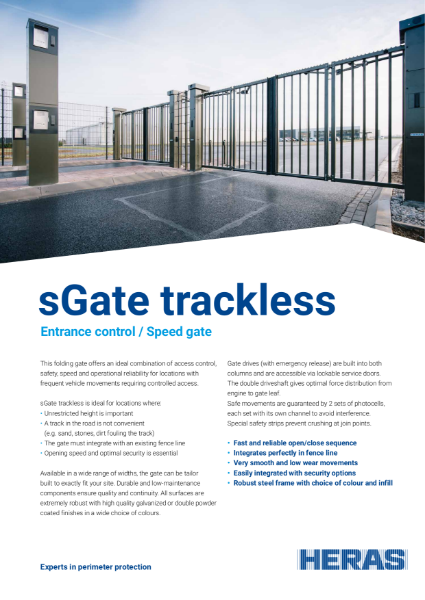 Bi-folding Speed Gate (Trackless)