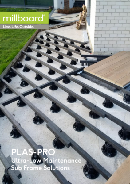 Millboard Composite Decking Plas Pro recycled plastic subframe