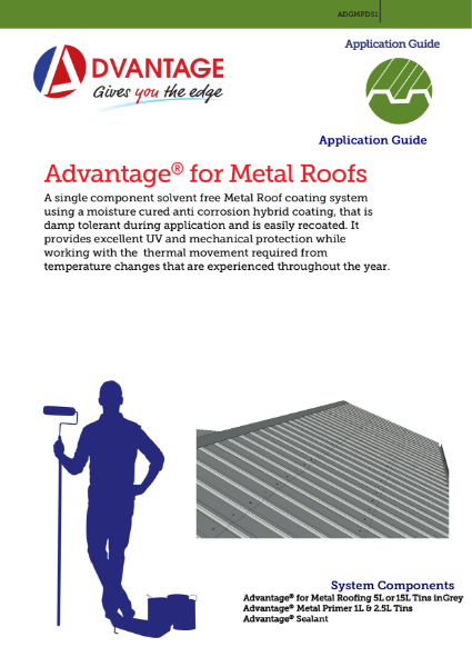 Advantage for Metal Roofs - Application Guide