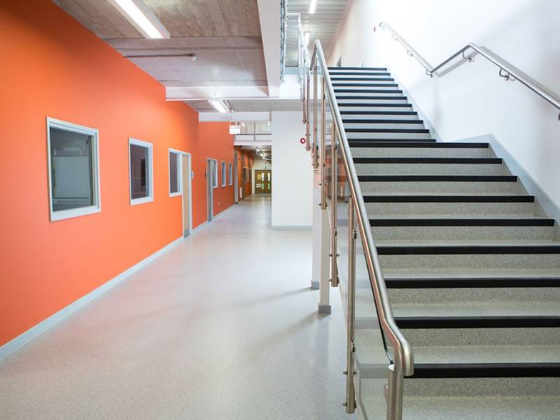 Back to basics with Polyflor vinyl flooring at Cheshunt School