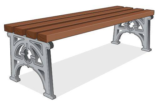 ASF 501s Cast Iron Bench