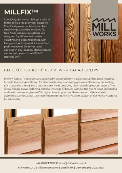 Millworks Millfix Fixings