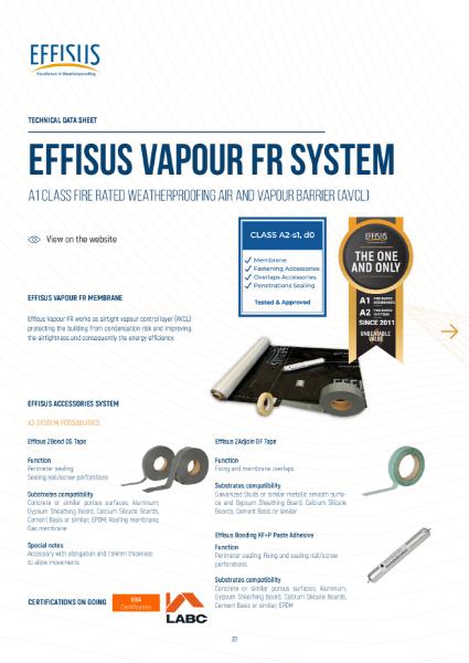 Effisus Vapour FR System_Cold Climates