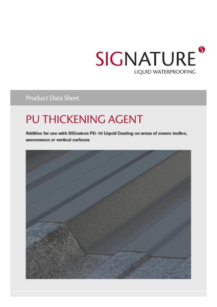 SIGnature PU Liquid Waterproofing Thickening Agent Datasheet