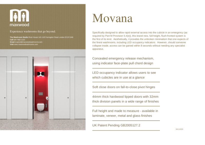 Cubicles - Movana - full-height, flush-fronted system with rapid external access