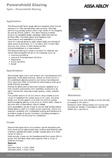 Ignis - Powershield Glazing