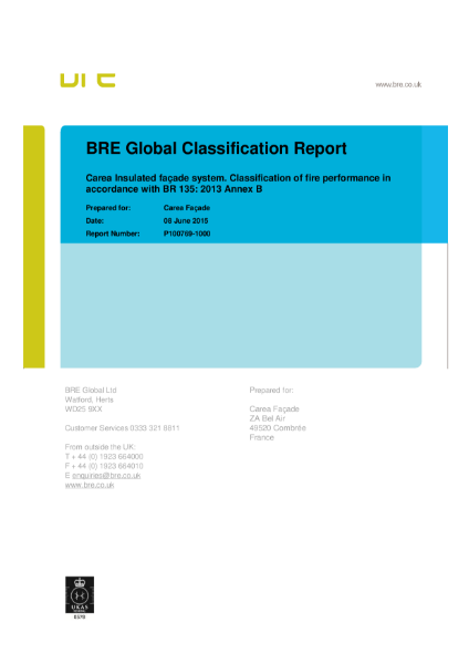 BRE Global Classification Report