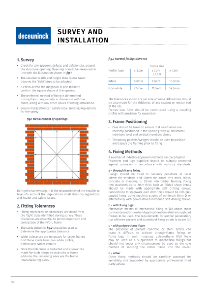 16. Specification Guide - Window & Door Survey & Installation