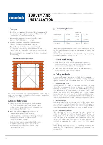 16. Specification Guide - Window & Door Survey & Installation