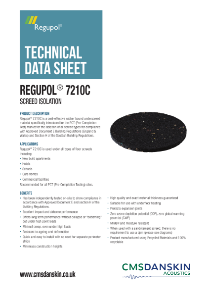 CMS Danskin Acoustics Regupol 7210C TDS