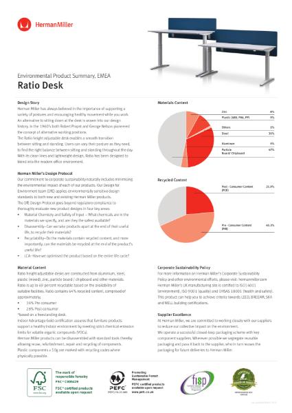 Ratio - Environmental Product Summary