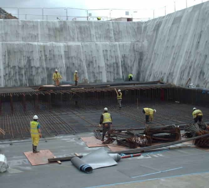 Basement waterproofing at Ardley Energy from Waste Plant