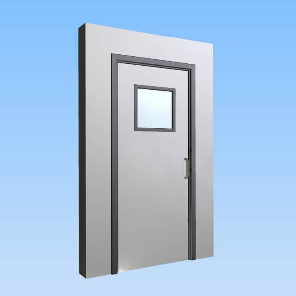 CS Acrovyn® Impact Resistant Doorset - Single leaf with type VP8 Vision Panel