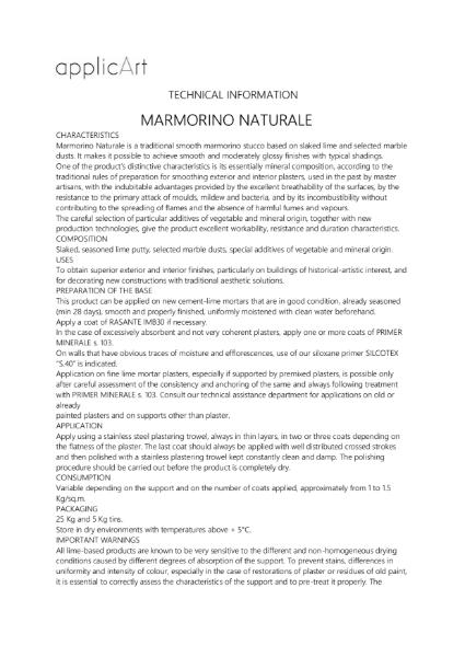Polished Plaster - Marmorino Naturale - Smooth finish