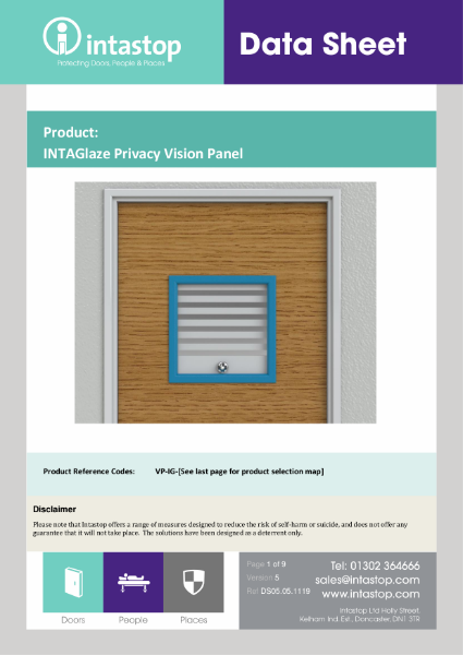 INTAGlaze Privacy Vision Panel Data Sheet
