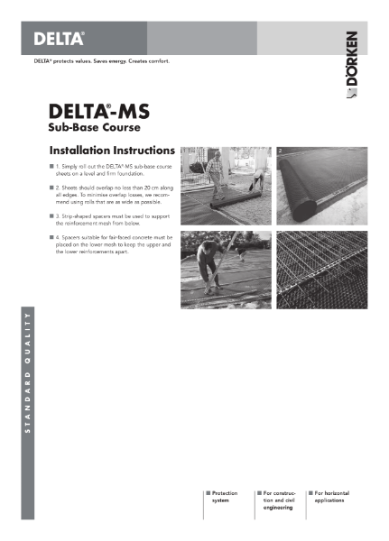 Delta-MS Sub-base Course Installation Instructions
