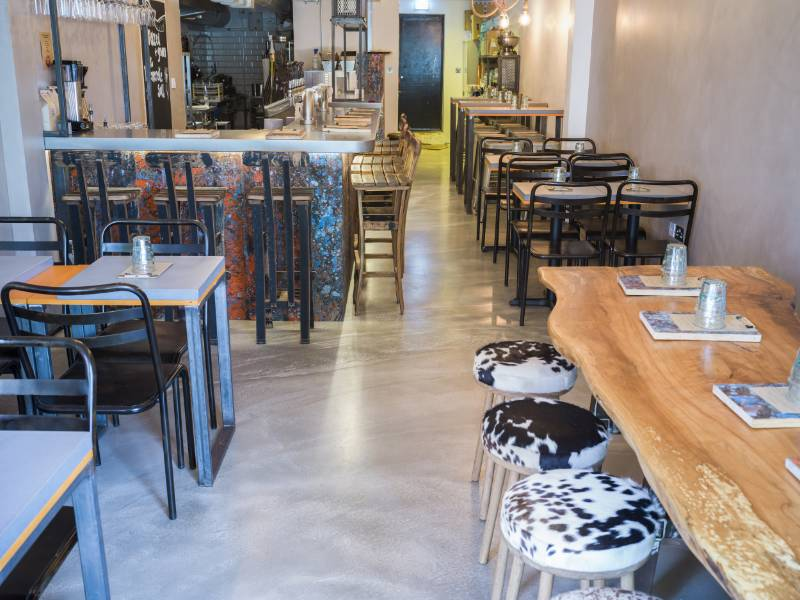 28 Well Hung Restaurant, London - F. Ball provides natural look for new organic meat restaurant