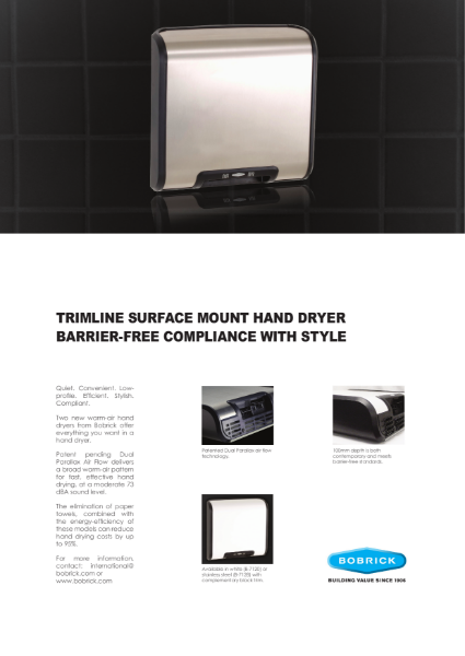 Trimline Surface Mount Hand Drier