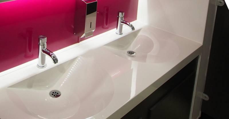 Franke solid surface sinks transform washrooms in famous British film studios