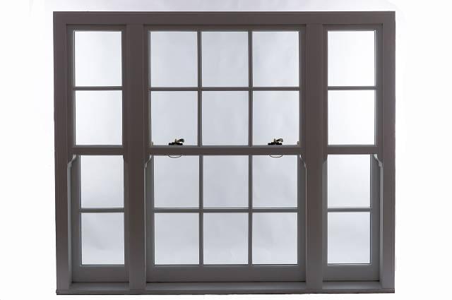 Heritage Rose Sash Window - Slim Mullion Triple