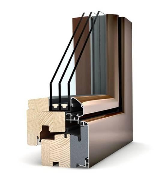 HF 210 Timber/ Aluminium Window