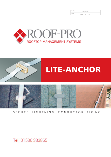 Roof-Pro Lightning Conductor Fixing Brochure
