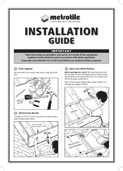 Metrotile Bond and Slate Installation Guide