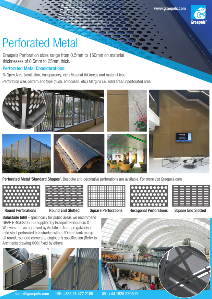 Standard Range -Perforated Metal Overview