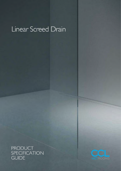 Wet rooms - Linear Screed Drain