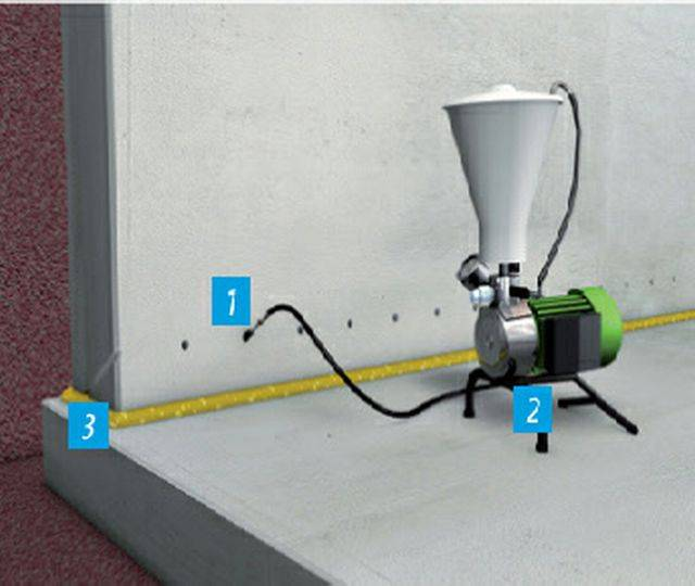 Injection mortar damp-proof courses