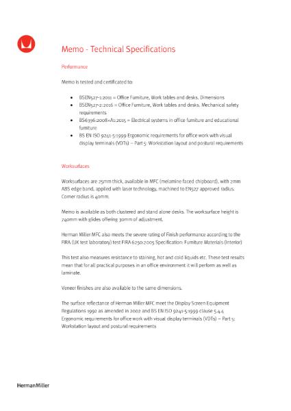 Memo - Technical Specification
