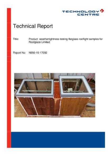 Weather Tightness Test report