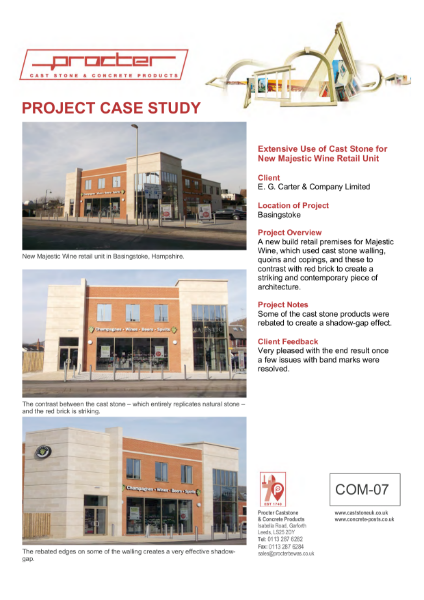 Case Study - Majestic Wine Retails Unit