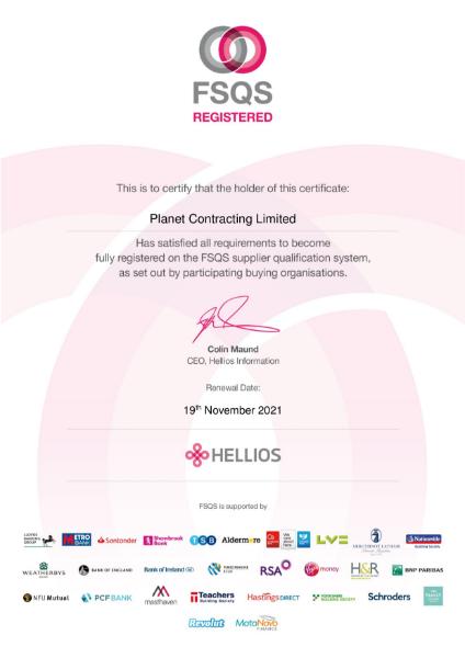FSQS Certificate of Registration