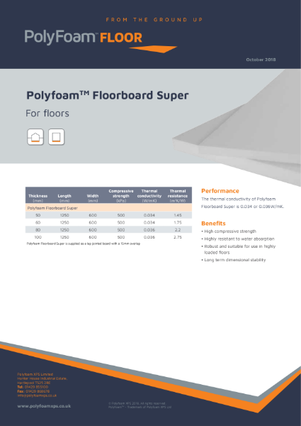 Polyfoam Floorboard Super