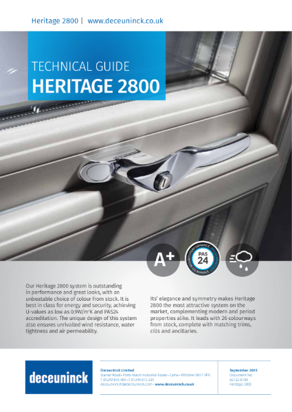 02. Heritage 2800 Storm Casement Window Datasheet