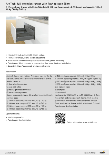 Product Catalogue - ArciTech: more profile for the design of your drawers.