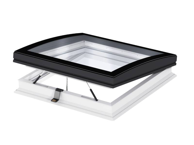 CVP INTEGRA® Elect. flat roof window, curved glass