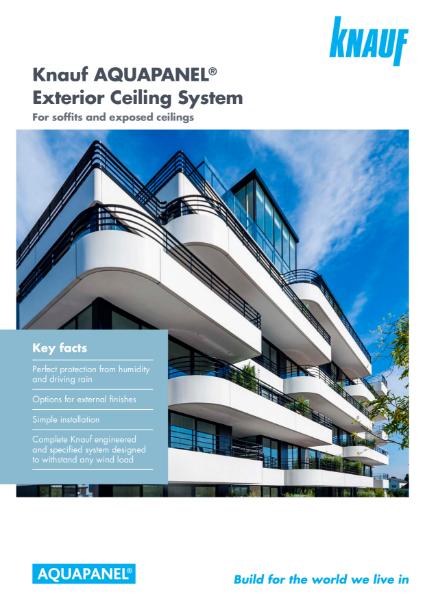 Knauf AQUAPANEL Exterior Ceiling System Brochure