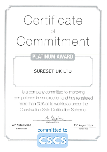 CSCS Certificate of Commitment