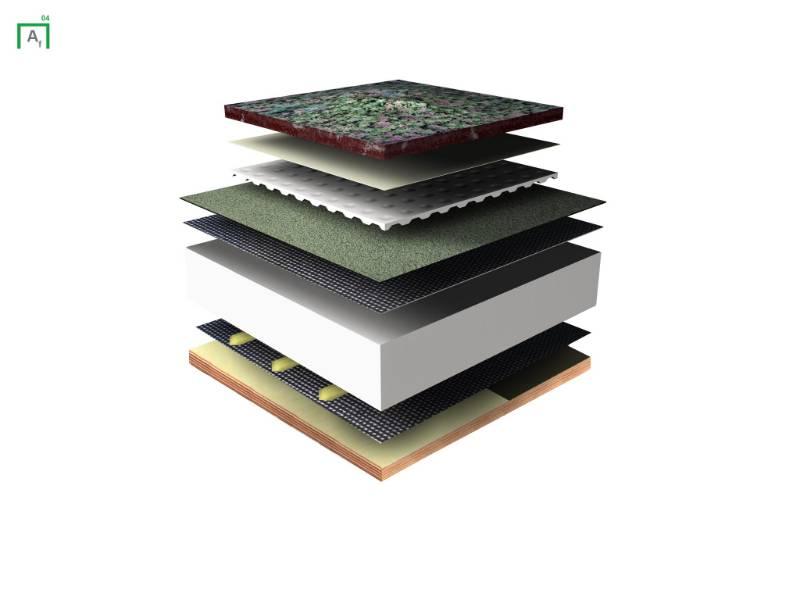 Alpaflore Anti-Root Green Roof Waterproofing - Tapered